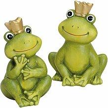 Froschkönig deko 16cm Gartendeko Keramik Figuren