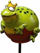 Froschkönig Gartenkugel Gartenstecker