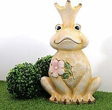 Froschkönig XL 42cm Gartendeko Figuren Gartenfiguren Frosch Statue König