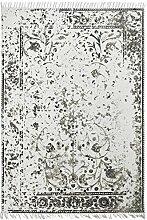 Froschkönig24 18992 Teppich Handgefertigt Taupe 80x150 cm