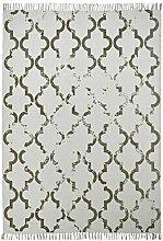 Froschkönig24 19010 Teppich Handgefertigt Taupe 200x290 cm