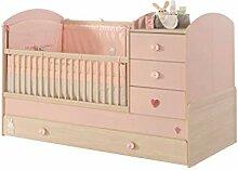 Froschkönig24 Cilek Baby Girl Babybett XL