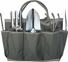 Frostfire Wesentliches Kit 6 Stück Gartenwerkzeuge und Tasche zur Aufbewahrung und Hocker