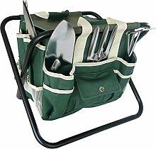 Frostfire Wesentliches Kit 7 Stück Gartenwerkzeuge und Tasche zur Aufbewahrung und Hocker