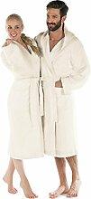Frottee Bademantel mit Kapuze Baumwolle,