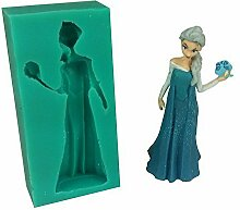 Frozen Sparkle Elsa Silikon Fondant Form für