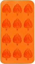 Fruchtform Eiswürfel-form Hirolan Würfelablage