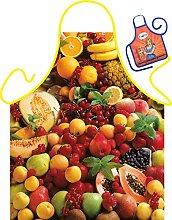 Früchte Obst Motiv Kochschürze bunte Früchte