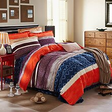 Frühlings-Mode Einfache Baumwolle Heimtextilien Bettwäsche-Paket,Memories-1.2