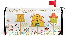 Frühlings-Vogelhaus-Magnet-Briefkasten-Abdeckung,