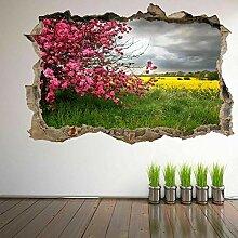 Frühlingsbäume Blume Wandkunst Aufkleber