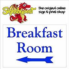 Frühstück mit Pfeil Zeichen mit