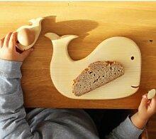 Frühstücksbrettchen mit Tiermotiv ?Wal mit