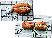 """Frühstücksbrettchen-Set """"Brötchen und Ei"""""""