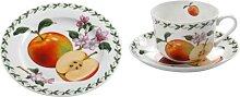 Frühstücksset Tasse mit UT+ Teller ORCHARD FRUITS APFEL Maxwell & Williams (32,95 EUR / SET)