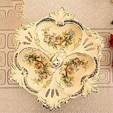 fruit bowl kontinental Keramik getrocknete Obstteller kreativ Untergitter sich verhalten moderne Salon Teetisch Drei Gitterplatte Dekoration Hochzeitsgeschenk