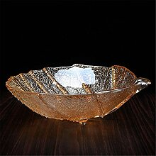 fruit bowl Obstteller / Korb Glas Haushalt Zubehör Dekoration kontinental moderne Salon Mode kreativ Haushalt Teetisch Dekoration , champagne