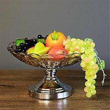 fruit bowl Obstteller / Korb Glas Legierung Haushalt Zubehör Dekoration kontinental luxuriös Salon Teetisch Dekoration neoklassizistisch Haushalt Bronze, Silber , Silver