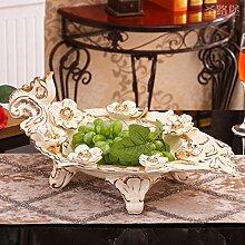 fruit bowl Obstteller / Korb Keramik vergoldet kontinental kreativ Haushalt Teetisch Salon Restaurant einfach Retro moderne Teetisch Salon Dekoration Kunsthandwerk