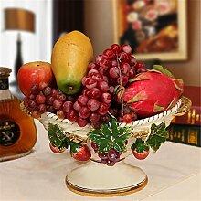 fruit bowl Obstteller / Korb kontinental kreativ von Hand Gliederung in Gold Haushalt Zierde Salon luxuriös kreativ Dekoration