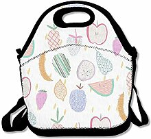 Fruit Design Convenient Lunch Box Tote Bag Rugged