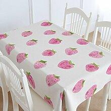 Fruit kreative Baumwolle und Leinen Tischdecken, Tuch europäischen Couchtisch Tischdecken, rechteckige runde Tischdecken , #1 , 140*180cm
