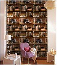 FSLUCKY Vintage Bücherregal - Tapete