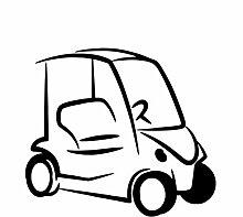 fssdd Auto Wandaufkleber Auto Cartoon Aufkleber