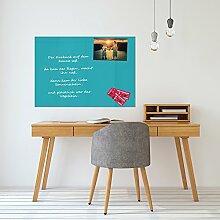 FTB Glas-Magnettafel Türkis 70x100 cm Whiteboard