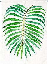 FTHIYK Vorhang Grün Pflanze Baumwolle Halber