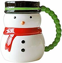FU LIAN Keramik Schneemann Form Tasse, Lätzchen