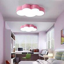 Fu Man Li Trading Company Kreative Persönlichkeit Schlafzimmer Deckenleuchte Karikatur Kinder Zimmer Licht Maternal Baby Natatorium Kindergarten Spielplatz Dekorative Lichter A+ ( Farbe : Pink-60*40cm36W )