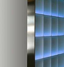FUCHS Glassteinabschlussprofil für 8cm starke Glassteine – Edelstahl Gebürstet 2,5 m Länge | verschiedene Längenn