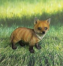 Fuchs stehend Dekofigur Gartendeko Figur