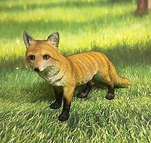 Fuchs stehend Dekofigur Gartendeko Wildtier