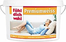 Fühl Dich Wohl Wandfarbe Premiumweiss 10l, matte
