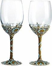 Führen Sie Kostenlose Crystal Glas-kreative Wein