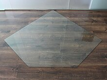 Fünfeck 130x130cm - XXL Funkenschutzplatte