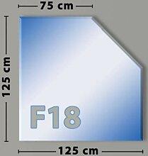 Fünfeck F18 Funkenschutzplatte - Glasplatte aus