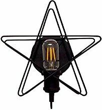 Fünfzackiger Stern Wandlampe Industrie Wind Eisen