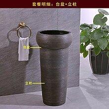 Für Badezimmer Gäste,Keramiksäulenwaschbecken