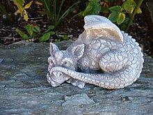 Für Garten Deko Drache Figur Steinguss