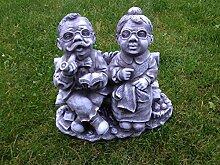 Für Garten Deko Opa und Oma Gartenfiguren Steinfiguren Steinguss Frostfes