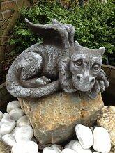 Für Garten und Haus Deko Drachen Figur Steinguss