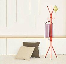 Für Kinder Bügeleisen Mantel Rack Schlafzimmer Boden Einfach Creative Vertikale Aufhänger Rost - Proof Schlafzimmer Kleiderbügel Racks (Orange / 139cm)
