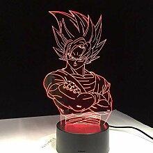 für Kinder Super Saiyajin LED-Lampe Super Son