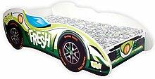 Für Kleinkinder, Kinder-Bed wonderhome Kids Racing Car F1mit Matratze, Green Fresh, 140x70