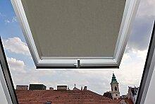 Für Velux Fenster GGU / GGL / GPU / GPL / GHU / GHL / GTU / GTL / GXU / GXL U08 Dachfensterrollo, Verdunkelungsrollos in Grau - 117,3x116cm (Breite x Länge) - mit seitlichen Führungsschienen aus Aluminium