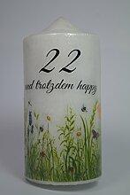 Fürhapter Geburtstagskerze Kerze Zum 22.