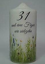 Fürhapter Geburtstagskerze Kerze zum 31.